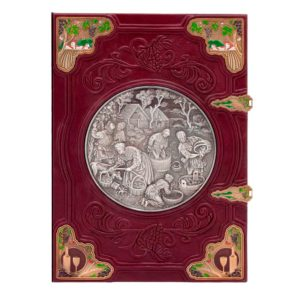 Книга «Андре Домине. Вино» в кожаном переплете для подарка
