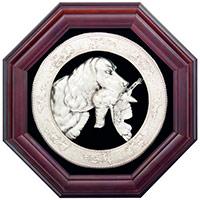 Панно «Охота на птицу» с серебрением - подарочные панно