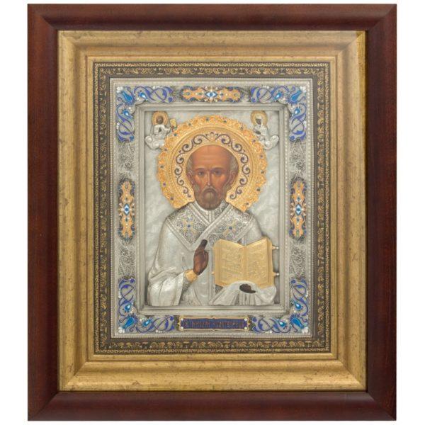 Подарочная икона святой Николай Чудотворец в ризе