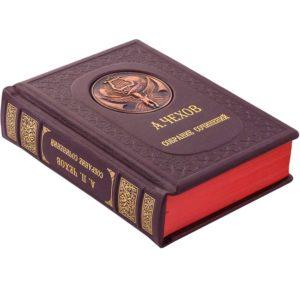 Книга «Антон Чехов: Собрание сочинений» в одном томе и кожаном переплете