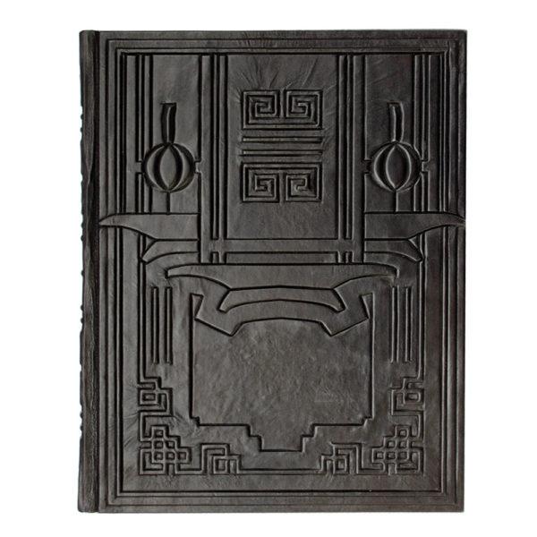 Книга «Мудрость Конфуция» обратная сторона кожаного перелета