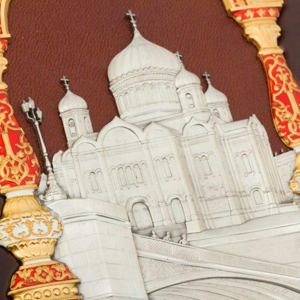 Подарочное издание «Москва. Соборы, монастыри и церкви» в кожаном переплете