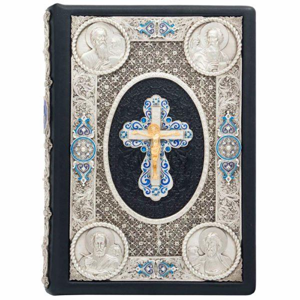 Подарочное издание «Святое Евангелие» в кожаном переплете