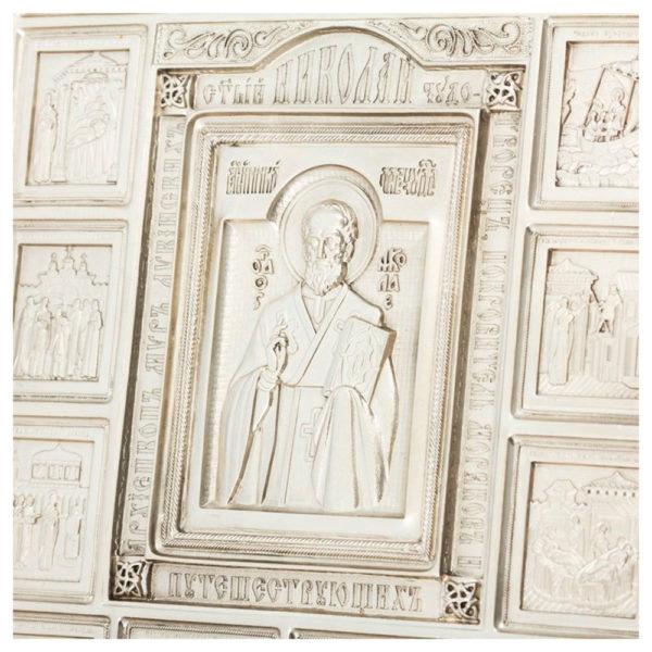 Подарочная икона «Святителя Николая с житием»