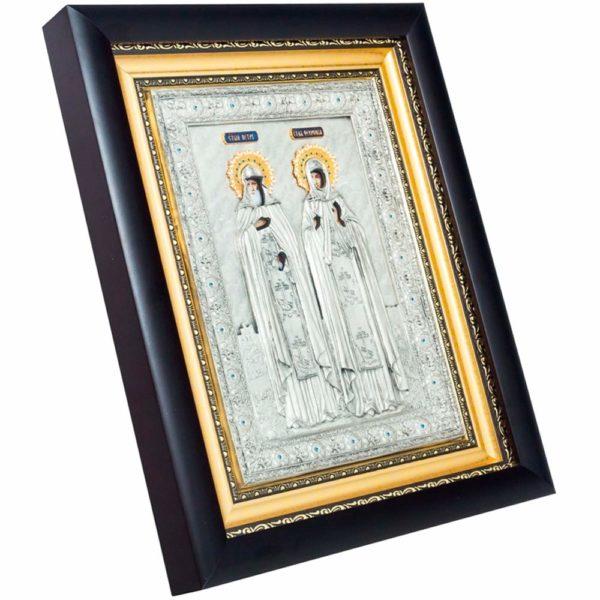 Подарочная икона «Святые Петр и Феврония»