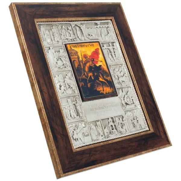 Подарочная икона «Житие Георгия Победоносца»