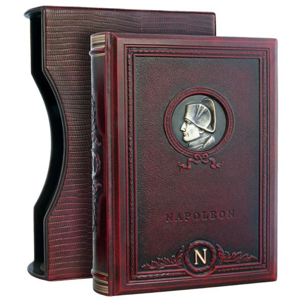 Подарочная книга «Наполеон: высказывания и афоризмы» в кожаном переплете
