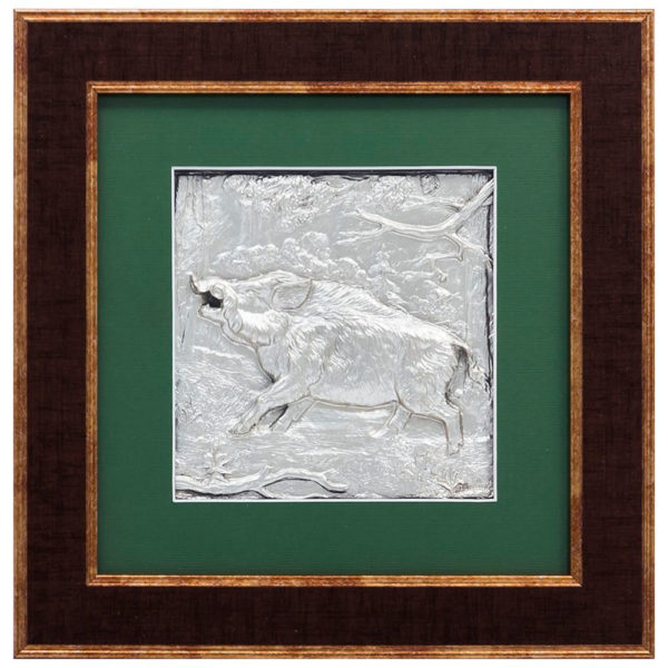 Подарочное настенное панно «Охота на кабана»