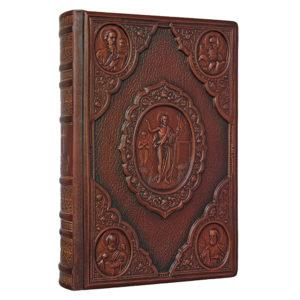 Подарочная книга «Новый Завет» в кожаном переплете с тиснением