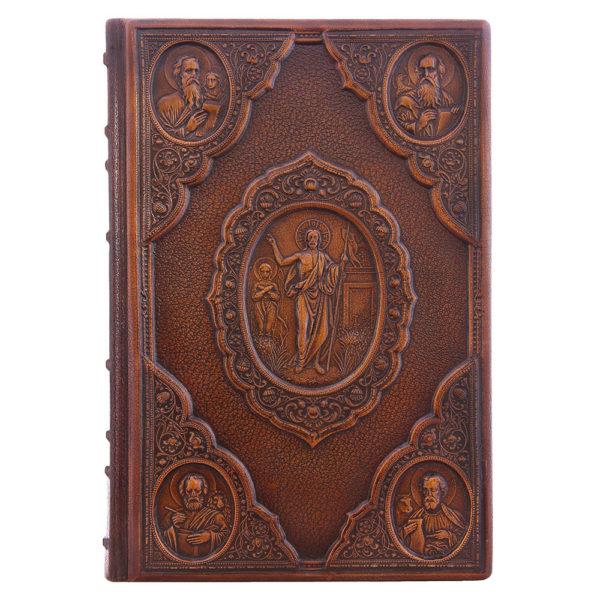 Издание в коже «Библия: книги Ветхого Завета и Нового Завета» в 3 томах
