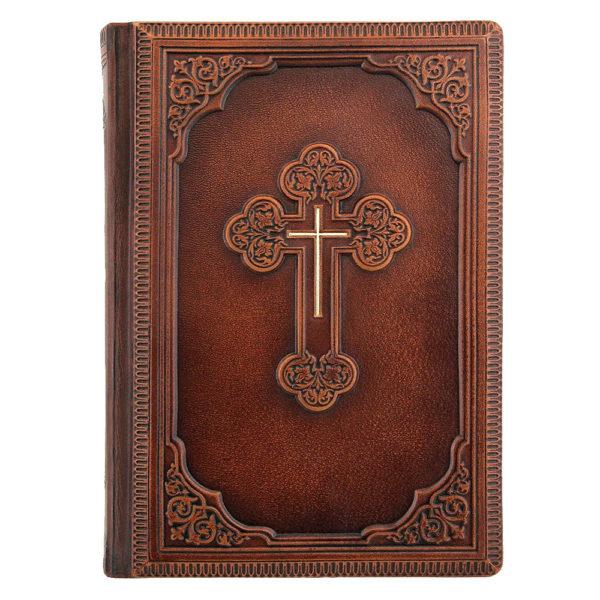 Подарочное издание «Библия» малый формат в кожаном переплете ручной работы