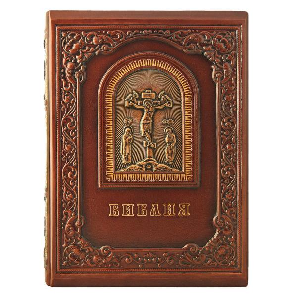 Подарочное издание «Библия с гравюрами Гюстава Доре» в кожаном переплете глубокого тиснения