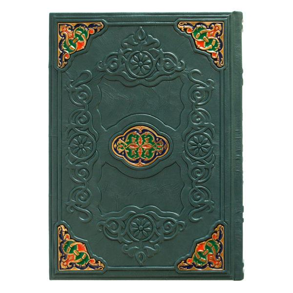 Подарочная книга «Коран» на арабском и русском языке в кожаном переплете