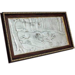 Подарочное настенное панно «Охота на кабанов»