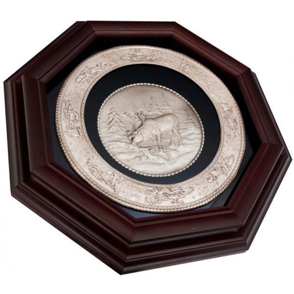 Подарочное настенное панно «Охота на лося»