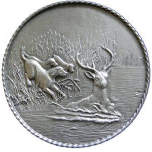 Подарочное настенное панно «Охота на оленя с собаками»