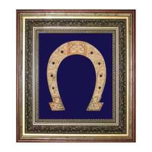 Подарочное настенное панно «Подкова» с позолотой, ювелирными эмалями, кристаллами Swarovski