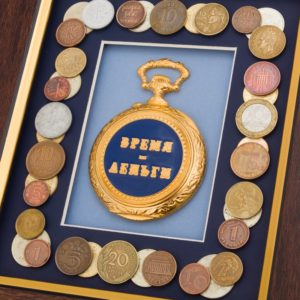 Подарочное настенное панно «Время-деньги»