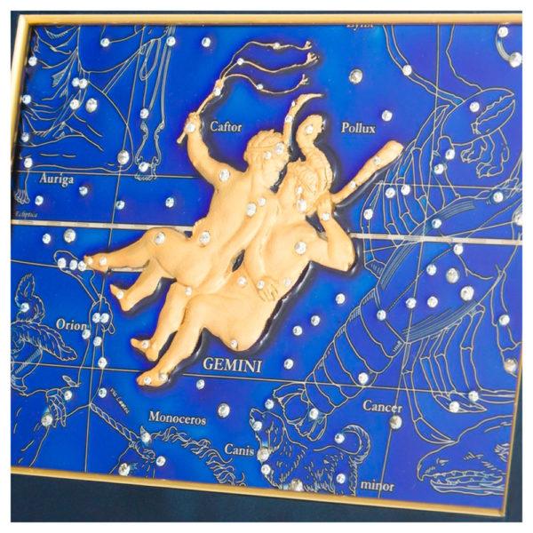 Подарочное настенное панно «Знак зодиака Близнецы»