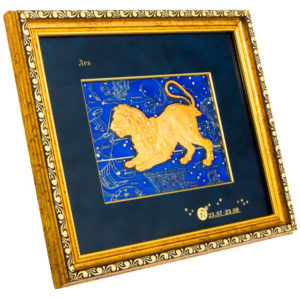 Подарочное настенное панно «Знак зодиака Лев»