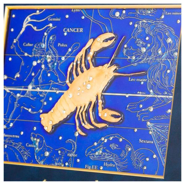 Подарочное настенное панно «Знак зодиака Рак»