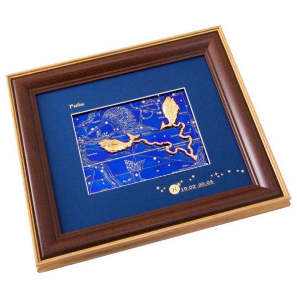 Подарочное настенное панно «Знак зодиака Рыбы»