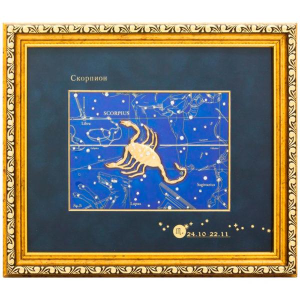 Подарочное настенное панно «Знак зодиака Скорпион»