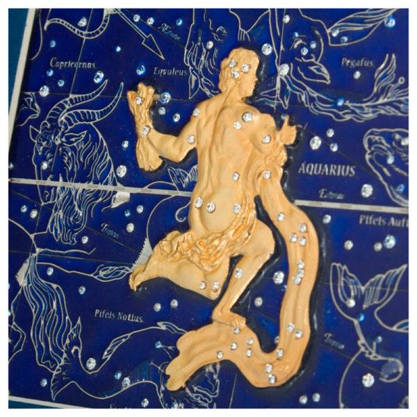 Подарочное настенное панно «Знак зодиака Водолей»