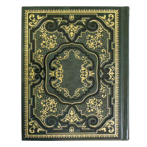 Кожаный переплет книги с тистением