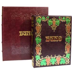 «Андре Домине: Вино» подарочное издание книги в кожаном переплете с футляром