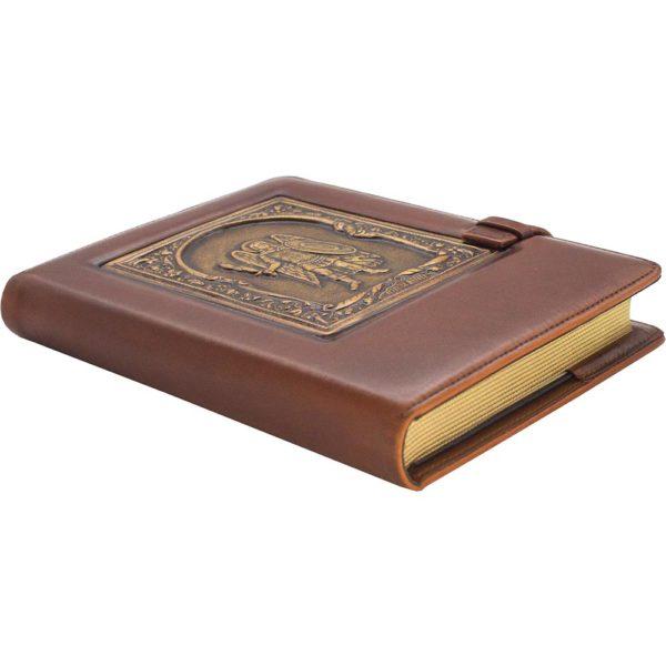 Подарочный ежедневник «Архангел Михаил» кожаный