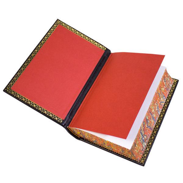 Форзац подарочной книги усиленный кожаным переплетом