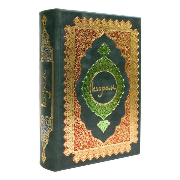 Книга «Коран. Перевод с арабского смыслов и комментарии» в кожаном переплете