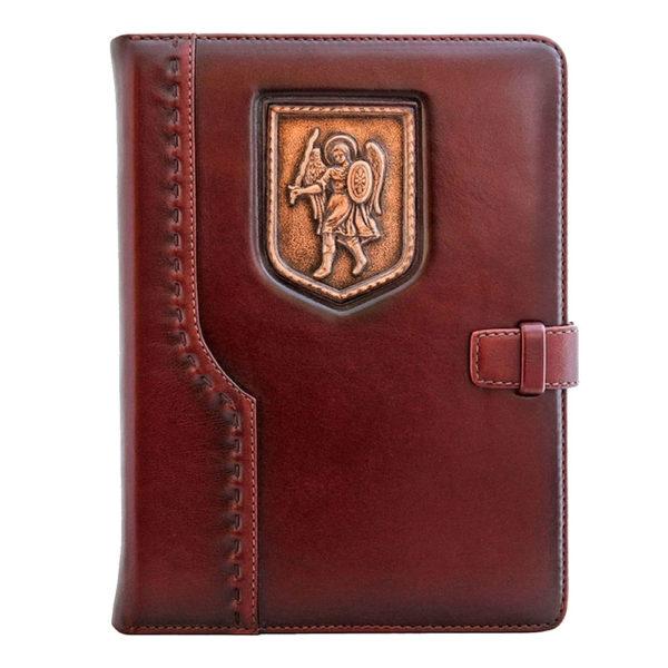 Подарочный ежедневник «Архангел Михаил» малый кожаный