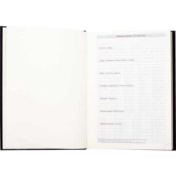 Подарочный ежедневник кожаный не датированный
