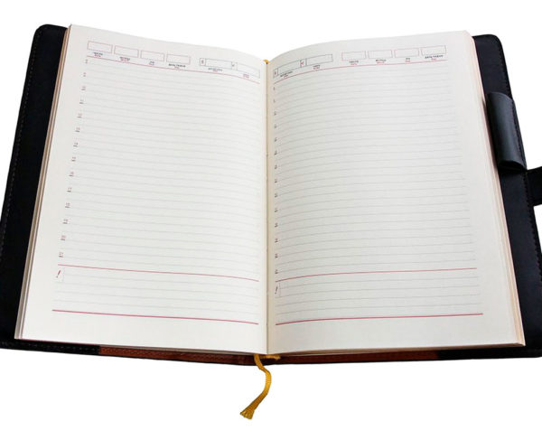 Подарочный ежедневник «Георгий Победоносец» кожаный