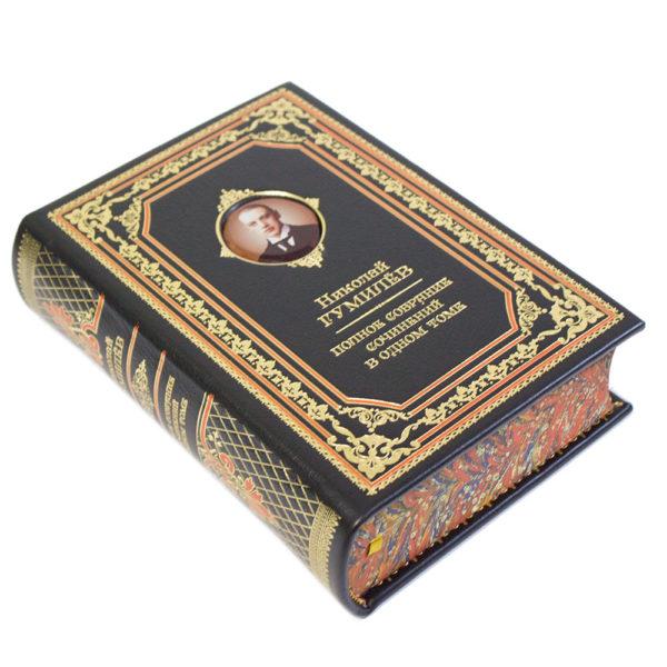 Книга «Николай Гумилев: Полное собрание сочинений» в кожаном переплете