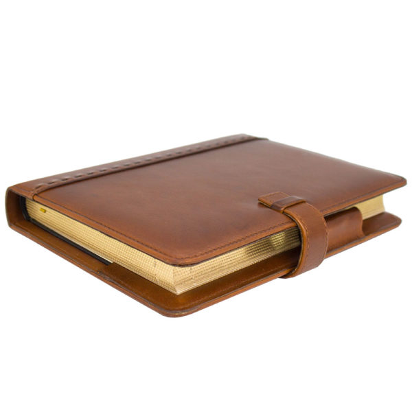 Подарочный ежедневник «Классический» в кожаном переплете