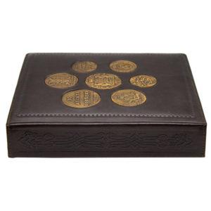 Альбом для монет «Старинные монеты» в кожаном переплет