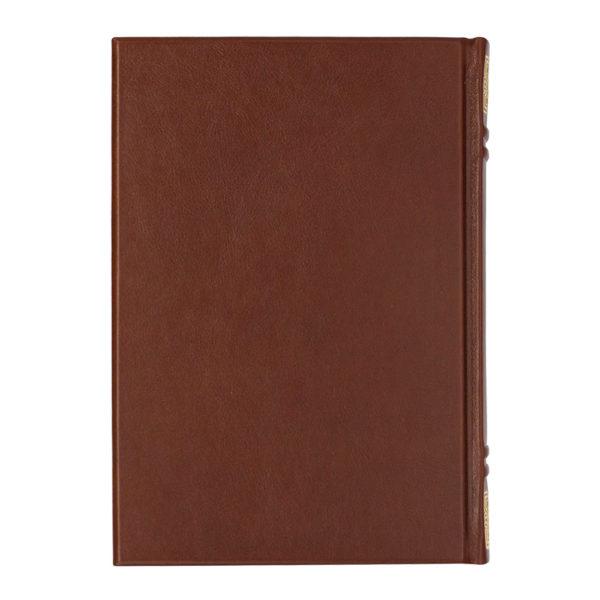 Книга в кожаном переплете задний оборот издания