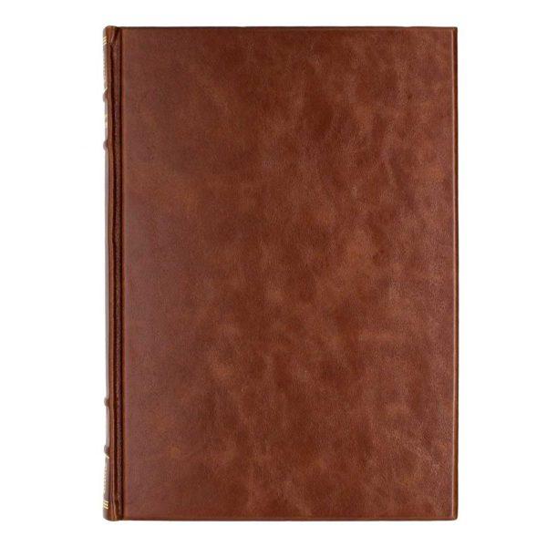 Обратный оборок книги в коже