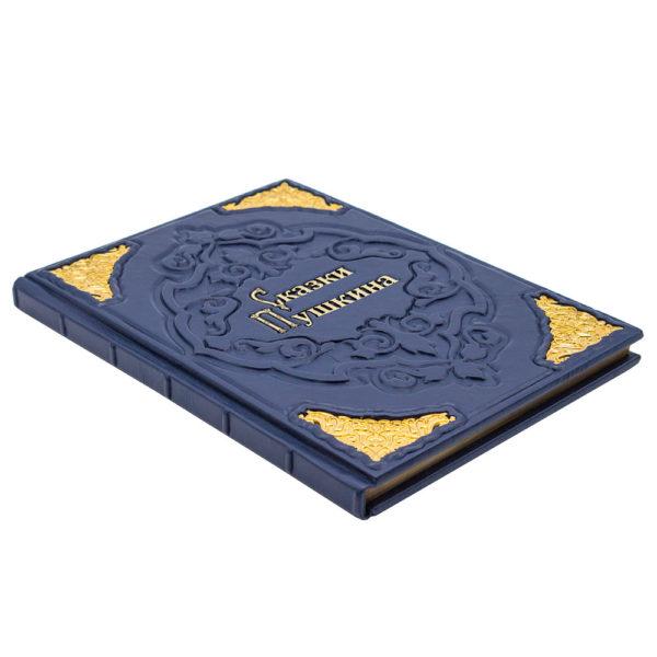 Книга «Сказки Пушкина. Живопись Палеха» в кожаном переплете