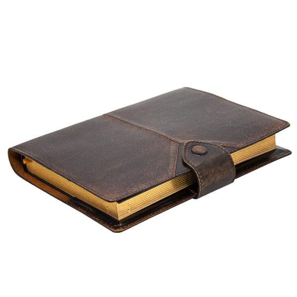 Кожаный ежедневник «Бомбёр» с золотым обрезом
