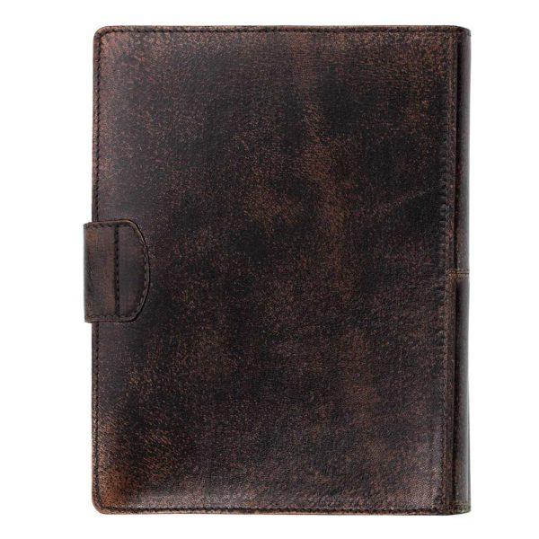 Кожаный ежедневник «Бомбёр» обратная сторона