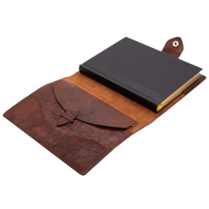 Ежедневник «Бомбер» коричневый (жатая кожа)