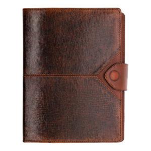 Кожаный ежедневник «Бомбёр коричневый» гладкая кожа