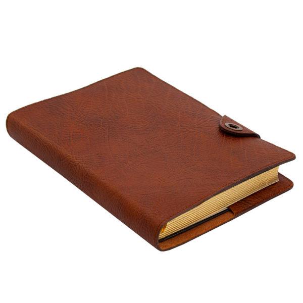 Кожаный ежедневник «Планер» с золотым обрезом