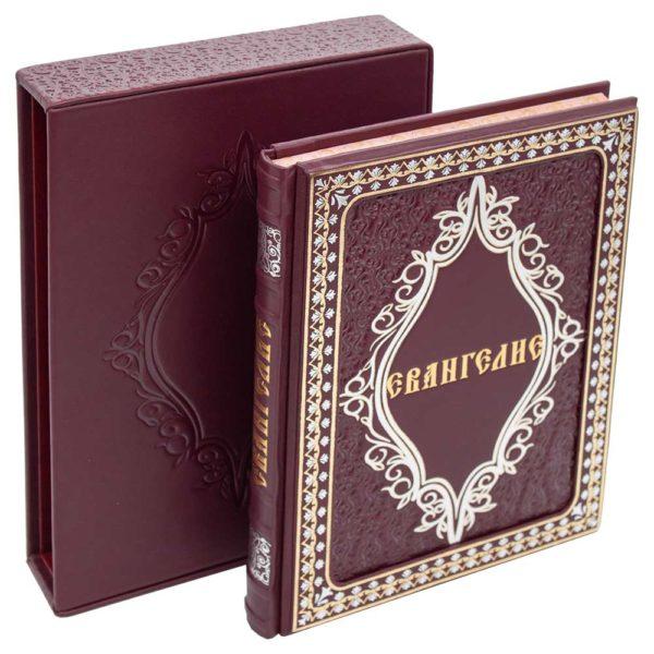«Иллюстрированное Евангелие» книга в кожаном футляре