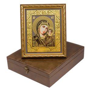 Икона «Богородица Казанская» в шкатулке