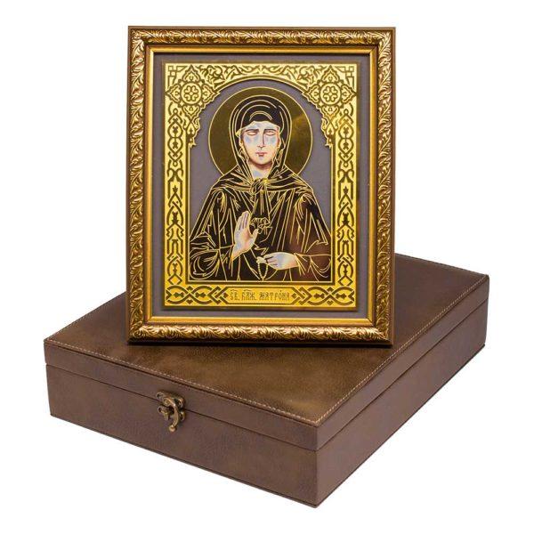 Подарочная икона «Св. блаженная Матрена» в шкатулке – футляре